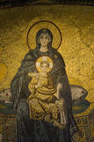 Virgin and The Child Detail Stock Image