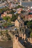Virgin Church Metekhi in Tbilisi Royalty Free Stock Photo