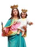 Virgin con la statua del jesus fotografia stock