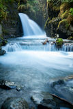 Virgin Creek Falls in Alaska. Amazing scenes of the virgin creek Falls in girdwood, Alaska stock photography