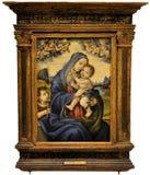 Virgin e bambino con il san John The Baptist Fotografia Stock