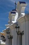 Virgin of El Rocío streetlights Royalty Free Stock Image