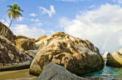 Virgin Gorda beach area stock photos