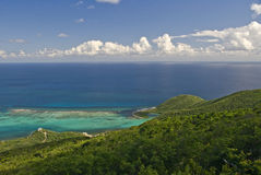 Virgin Gorda Island Sea View. Location in the British Virgin Islands stock photography