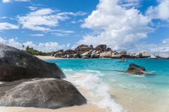 Virgin Gorda. Look at the beaches of The Bath, Virgin Gorda, caribbean royalty free stock photography