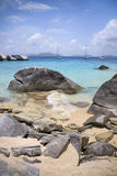 Virgin Gorda rocky shoreline Stock Photo