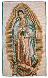 Virgin of Guadalupe. Our lady of Guadalupe artistic embroidery Royalty Free Stock Photo