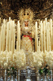 Virgin of Hope in the district of Triana, Holy Week in Seville, Andalusia, Spain Royalty Free Stock Photos