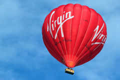 Virgin hot air balloon. Royalty Free Stock Photography