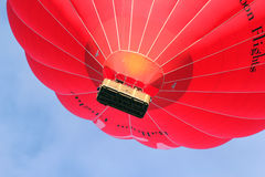 Virgin hot air balloon close up. Royalty Free Stock Photography