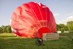 The Virgin Hot Air Balloon Stock Images