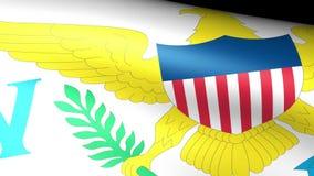 Virgin Island Flag Waving. Video footage stock video footage