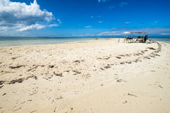 Virgin Island. Untouched beach in bohol philippines. Just you and the sand Royalty Free Stock Photos