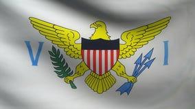 Virgin Islands flag stock video