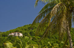 Virgin Islands House on Hill Stock Image