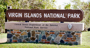 Virgin Islands National Park Sign Royalty Free Stock Image