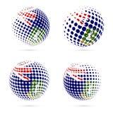 Virgin Islands UK halftone flag set patriotic. Royalty Free Stock Images