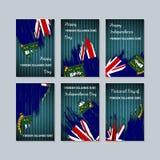 Virgin Islands UK Patriotic Cards for National. royalty free illustration