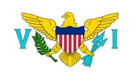Virgin Islands US Flag royalty free stock photos