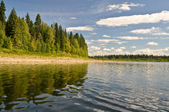 Virgin Komi forests, the river Shchugor. National Park Yugid-VA in the Northern Urals Stock Photos