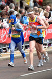 Virgin London marathon. A group of male runners  at London marathon 2010 Stock Image