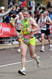 Virgin London marathon. A group of male runners  at London marathon 2010 Stock Photos