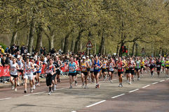 Virgin London marathon. A group of male runners  at London marathon 2010 Stock Photo