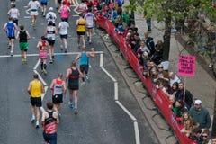 Virgin London Marathon 2012. Runners in 2012 Virgin London Marathon. Canary Wharf Royalty Free Stock Images