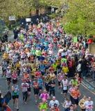 Virgin London Marathon 2012. Runners in 2012 Virgin London Marathon. Westferry Stock Photography