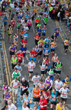 Virgin London Marathon 2012. Runners in 2012 Virgin London Marathon. Westferry Stock Image