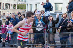Virgin London Marathon 2012. Runner in 2012 Virgin London Marathon. Canary Wharf Stock Images