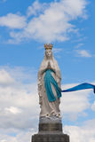 Virgin of Lourdes. In the pirenees, France Royalty Free Stock Images