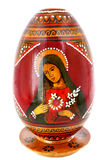 Virgin Maria. Easter egg of manual work with Virgin Maria image Royalty Free Stock Images