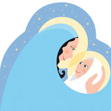 Virgin Maria and child. A simple illustration of the mother Virgin Mary and her child Jesus Royalty Free Stock Images