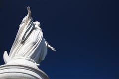 Virgin Maria Monument on San Cristobal royalty free stock image