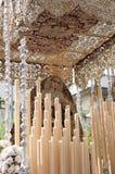 Virgin Mary: Η ιερή εβδομάδα στη Σεβίλη, Ισπανία Στοκ Φωτογραφίες