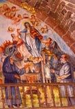 Virgin Mary που χρωματίζει την εκκλησία SAN Miguel de Allende Μεξικό Parroquia Στοκ Εικόνες