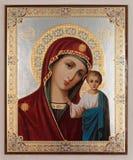 virgin mary иконы Стоковая Фотография RF