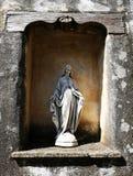 Virgin Mary. Stone Virgin Mary statue Stock Photo