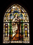 Virgin Mary. A stained glass window in Gibraltar showing the virgin mary Royalty Free Stock Image
