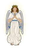 Virgin Mary. Representation of the Virgin Mary in prayer Royalty Free Illustration