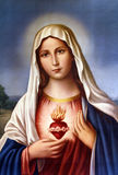 Virgin Mary. An old image of Virgin Mary, from an anonymous author