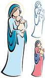Virgin Mary And Baby Jesus Stock Photo