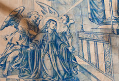 Virgin Mary with Angels Stock Photography