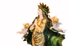 Virgin Mary with angels praying Royalty Free Stock Photos