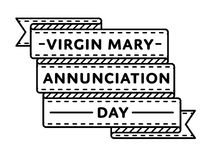 Virgin Mary Annunciation day greeting emblem Royalty Free Stock Photo