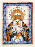 Virgin Mary on azulejos in Sevilla, Spain Stock Image