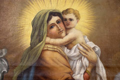 Virgin Mary with baby Jesus Stock Photography