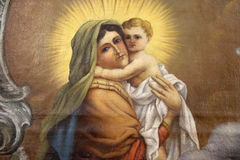 Virgin Mary with baby Jesus Stock Images