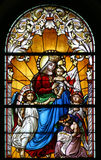 Virgin Mary with baby Jesus and angels Stock Images